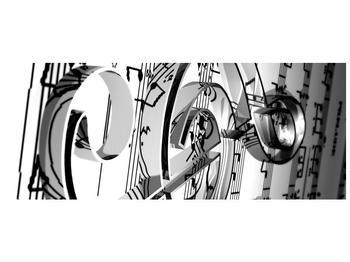Moderní obraz houslového klíče (F000206F10040)