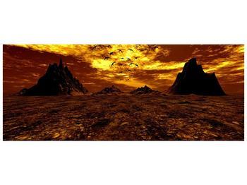 Obraz vyprahlého údolí (F000287F10040)