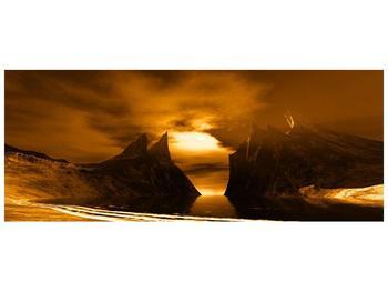 Obraz skály a pláže (F000300F10040)