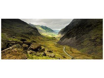 Obraz cesty uprostřed hor (F000621F10040)