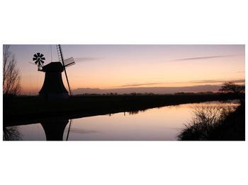 Obraz rybníku u mlýna (F001556F10040)