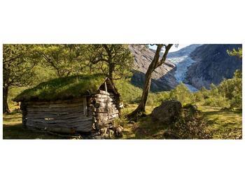 Obraz horské chatrče (F001636F10040)