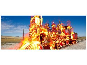 Obraz ohnivé lokomotivy (F001696F10040)