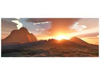 Obraz západu slunce nad horama (F001700F10040)