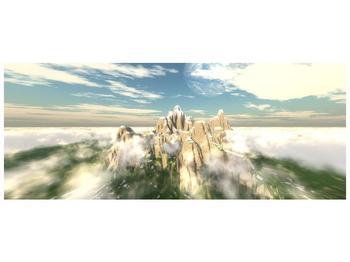 Obraz zasněžených vrcholů skal (F001715F10040)
