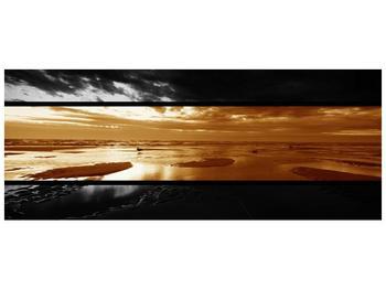 Dvroubarevný obraz moře (F001957F10040)