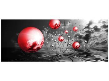 Moderní obraz - červené koule (F002086F10040)