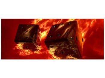 Moderní obraz hořících herních kostek (F004319F10040)