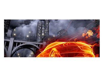 Tablou cu mașina arzând (K011167K10040)