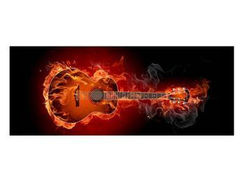 Lángoló gitár képe (K011168K10040)