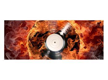 Tablou cu placă de gramofon în foc (K011171K10040)