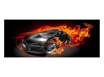 Tablou cu mașina arzând (K011174K10040)