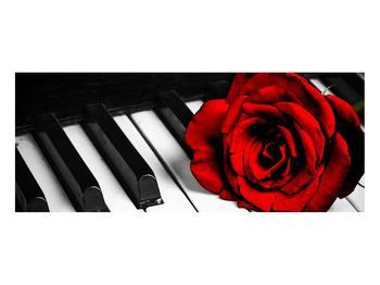 Zongora és egy rózsa képe (K011229K10040)