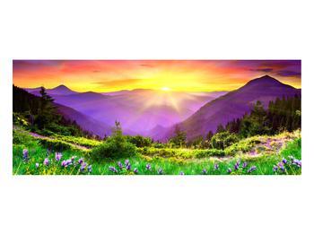Obraz horské krajiny s východem slunce (K011873K10040)