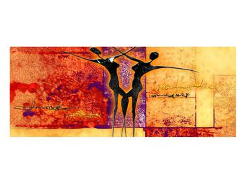 Tablou abstract cu doi dansatori (K011975K10040)