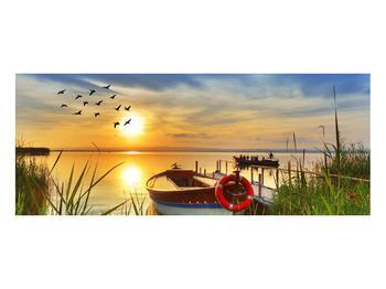 Obraz loďky na jezeře (K012049K10040)