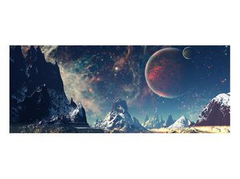 Tablou cu peisaj montan cu planete (K012168K10040)