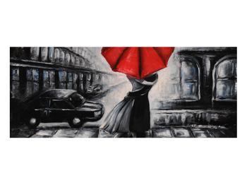 Obraz zamilovaného páru pod deštníkem (K012433K10040)