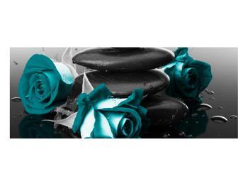Tablou cu trandafiri albastre (K012553K10040)