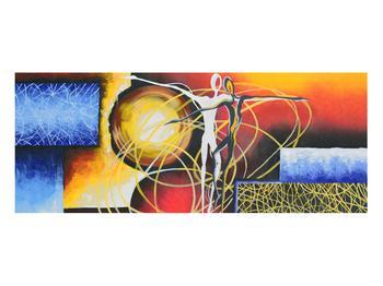 Abstraktní obraz tanečníků (K014151K10040)