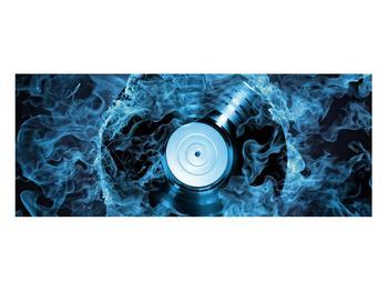 Tablou cu placă de gramofon în foc albastru (K014442K10040)