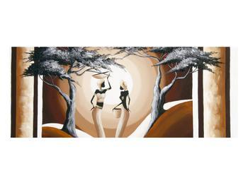 Orientální obraz dvou žen a stromu  (K014682K10040)
