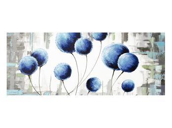 Abstraktní obraz - modré balónky (K014707K10040)