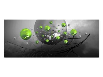 Obraz zelených abstraktných gulí (V020103V10040)