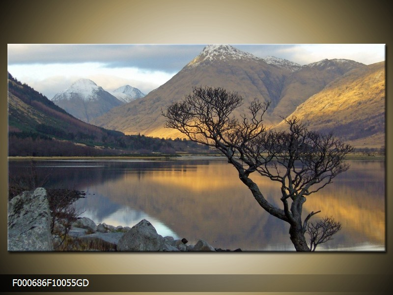 Obraz hor u jezera (F000686F10055GD)