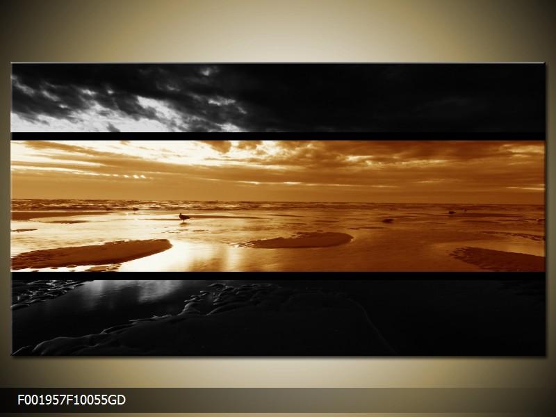 Dvroubarevný obraz moře (F001957F10055GD)