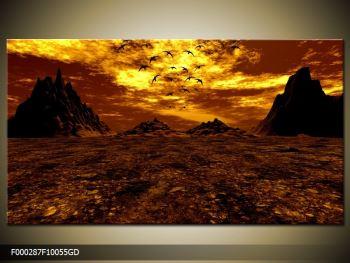 Obraz vyprahlého údolí (F000287F10055GD)