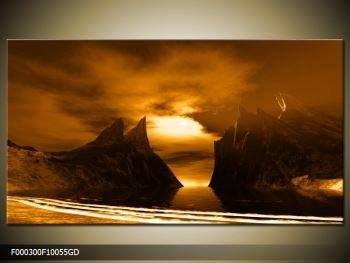 Obraz skály a pláže (F000300F10055GD)