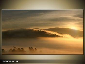 Obraz hor v mlze (F001451F10055GD)