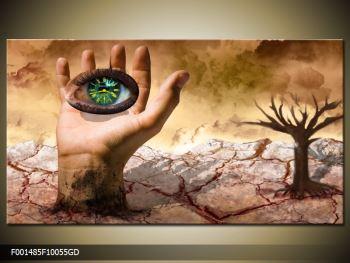 Obraz oka na dlaňi (F001485F10055GD)
