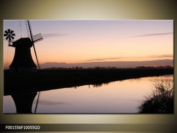 Obraz rybníku u mlýna (F001556F10055GD)