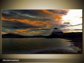 Obraz moře v temné obloze (F001564F10055GD)