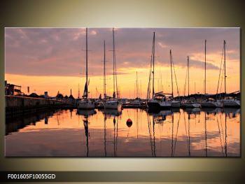 Obraz přístavu (F001605F10055GD)