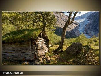 Obraz horské chatrče (F001636F10055GD)