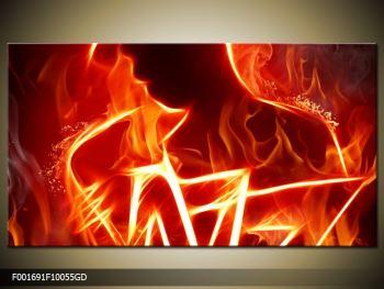 Obraz ohnivé postavy (F001691F10055GD)
