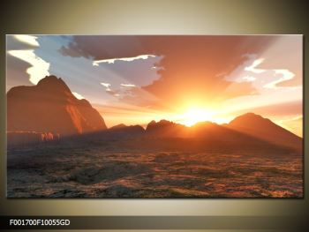 Obraz západu slunce nad horama (F001700F10055GD)