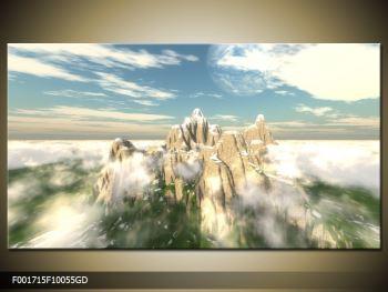 Obraz zasněžených vrcholů skal (F001715F10055GD)