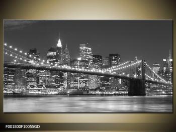Moderní obraz - New York (F001800F10055GD)