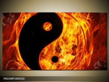 Obraz hořícího jin jang (F002309F10055GD)