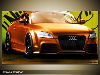 Obraz oranžové Audi (F002351F10055GD)