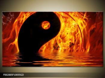 Obraz hořícího Jin Jangu  (F002885F10055GD)