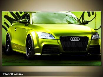 Obraz zelené Audi  (F003676F10055GD)