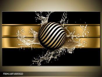 Obraz pruhované koule a vody (F004116F10055GD)