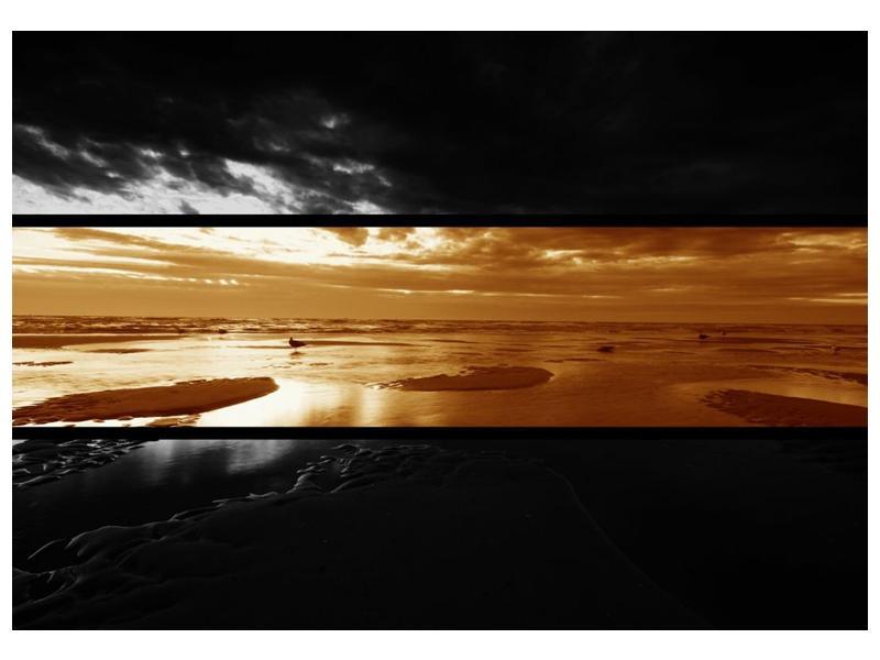 Dvroubarevný obraz moře (F001957F10070)