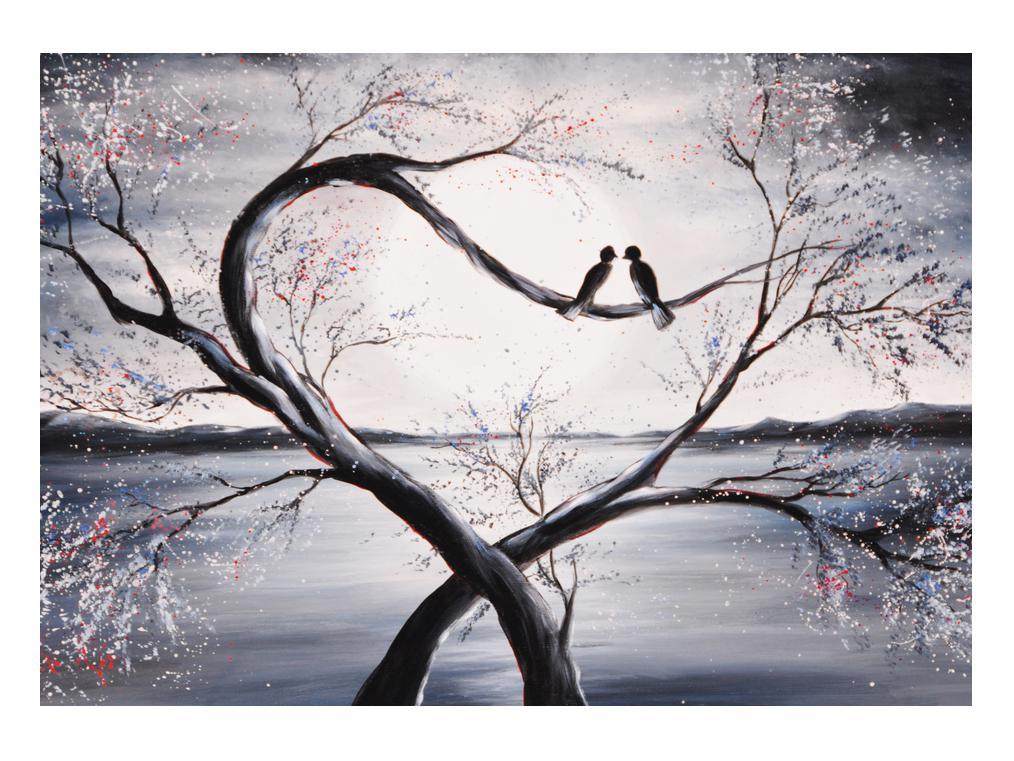 Slika zalljubljenih ptica (K012516K10070)