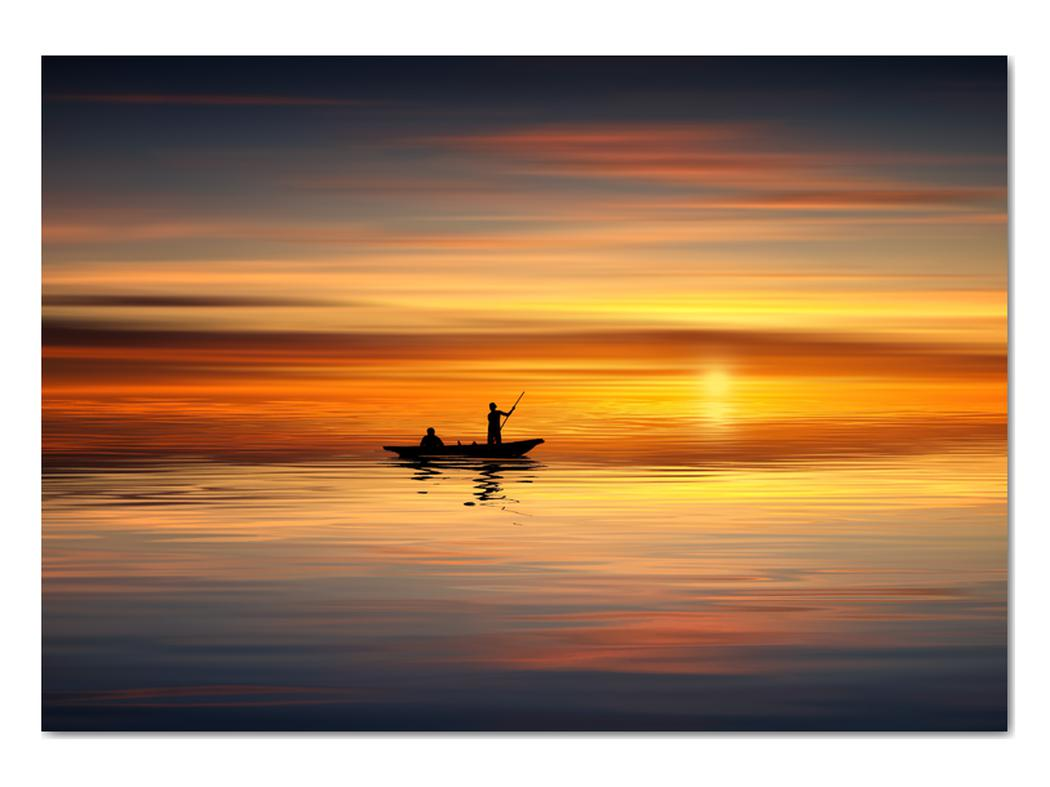 Obraz - plavba na loďke (V020168V10070)